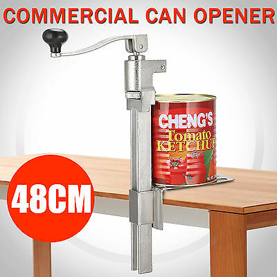 Commercial Can Opener Bench Catering Tin Heavy Duty Clamp Mount Cast Steel Large