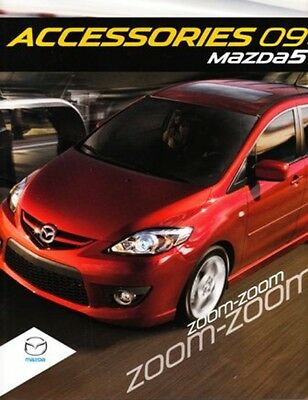 2009 09 Mazda 5  Accessories original brochure