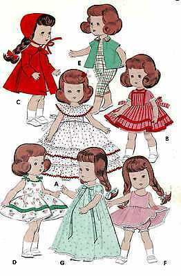 Ginny Wendy Muffie Doll Clothes PATTERNS 7972 for 7-8 inch Vogue Alexander Kins