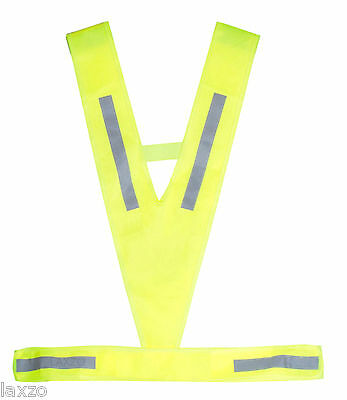 Reflective Light Breathable Hi Viz  Vest in Neon Yellow cycling horse riding