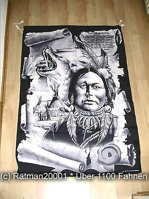 Fahnen Flagge Indianer Coyote VD 46 - 95 x 135 cm