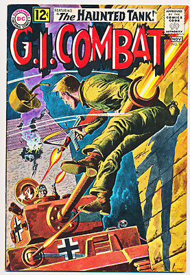 G.I. COMBAT #96 F, The Haunted Tank, Grey Tone cover, WAR, DC Comics, 1962