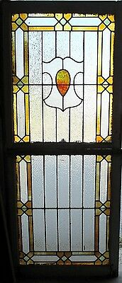 ~ Antique American Stained Glass Windows Top And Bottom  Architectural Salvage ~