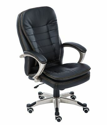 FoxHunter Computer Executive Office Desk Chair PU Leather Swivel OC01 Black New