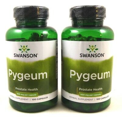 2X Pygeum 500 mg 100 Caps Prostate Urinary Tract Health