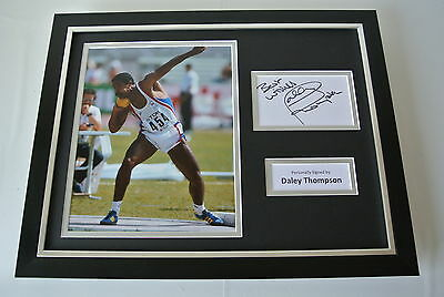Daley Thompson SIGNED FRAMED Photo Autograph 16x12 display Olympic Decathlon COA