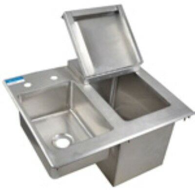 Drop in Ice Bin with side sink - comes with faucet - FREE SHIPPING