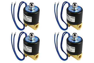 "4 LOT 1//4/"" NPT Electric Plastic Solenoid Air Water Valve NC 12V DC Pneumatic"
