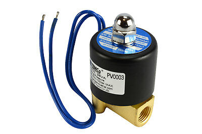 "1/4"" NPT Electric Brass Solenoid Air Water Valve NC 12V DC Pneumatic"