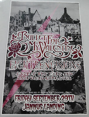 Bullet For My Valentine * Original Concert Poster rare limited 2006 tour print