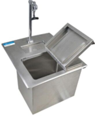 Drop In Ice Bin With Water Station - Side Hinged Lid - Free Shipping