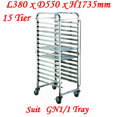 Stainless Steel 15 Tier Gastronorm Tray Trolley (ZY331) suit 1/1 tray