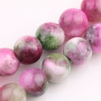 20/40PCS Persian Gemstone Multicolor Varies Round Loose Spacer Jade Beads 8mm