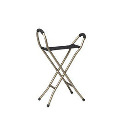 Folding Lightweight Cane with Sling Style Seat RTL10360 By Drive Medical New