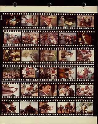 "Indiana Jones And The Temple Of Doom 8x10"" Color Contact Sheet Photo #J8371"