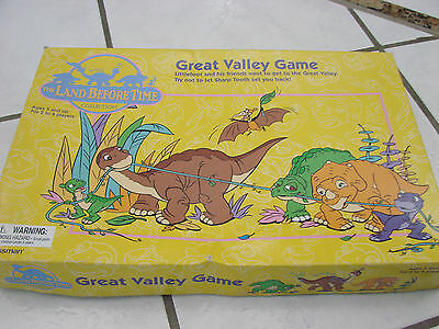The Land Before Time -  Great Valley Board Game Looks Complete Pressman 2001