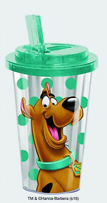 Scooby-Doo Laughing Figure Acrylic Travel Cup with Flip Top Lid, NEW UNUSED