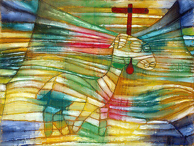 The Lamb Cross Behind Its Head Lamb Of God Redeemer Painting By Paul Klee Repro