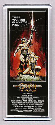 CONAN THE BARBARIAN movie poster LARGE FRIDGE MAGNET - ARNIE CLASSIC!