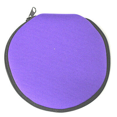 (Lot of 3 Holders) Disc Storage Bag Carry Wallet CD DVD PURPLE 12 Sleeves/Case
