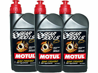 (3L=3.17 Qt) Motul Gear 300 Ls 75W90 100% Synthetic Transmission Lsd Oil