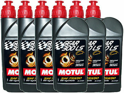 (6L=6.34 Qt) Motul Gear 300 Ls 75W90 100% Synthetic Transmission Lsd Oil
