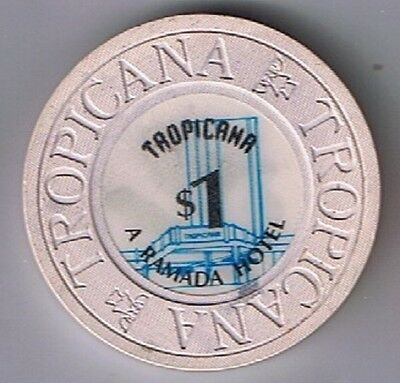 Tropicana A Ramada Hotel $1.00 House Mold With Fountain Casino Chip No City