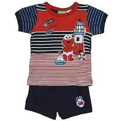 Cute Baby Boy Sesame Street Summer Shorty Pyjama's Sleepwear Outfit