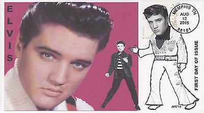 Jvc Cachets-2015 Elvis Presley Issue Fdc First Day Cover Topical Music Singer #2