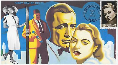 Jvc Cachets-2015 Ingrid Bergman U.s. Cancel & Stamp First Day Cover Fdc #2