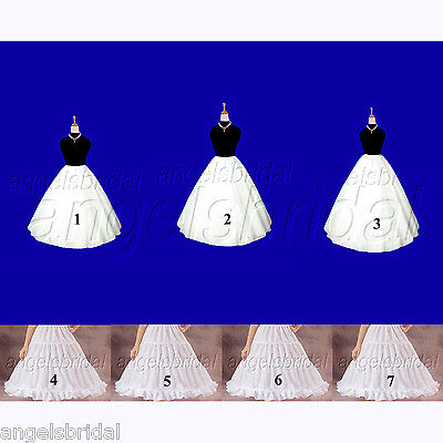 Flower Girl Wedding Formal Pageant Dress Petticoat Crinoline Hoop Skirt Slip