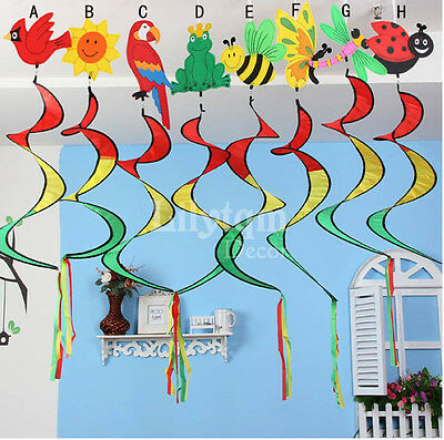 Wind Spinner Spiral Hanging Animal Twister Conservatory Garden Home Party Decor
