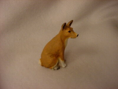 BASENJI puppy TiNY Dog FIGURINE Resin HAND PAINTED MINIATURE Mini Pet Statue NEW