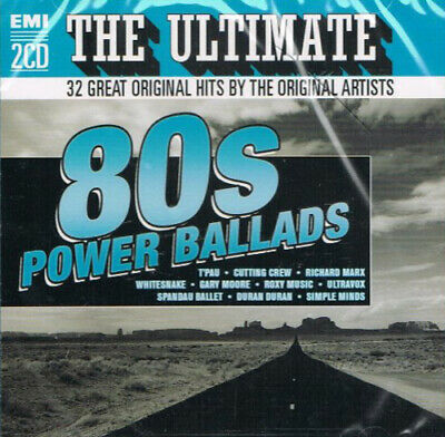Various Artists : The Ultimate 80's Power Ballads: 32 Great Original Hits By