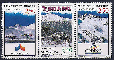 ANDORRE - N°429A // Timbres Neufs** // 1993 - SKI