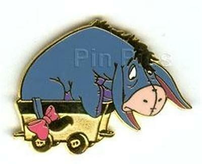 EEYORE Riding ON GOLD TRAIN CAR 2002 Cast LANYARD Disney PIN 12799