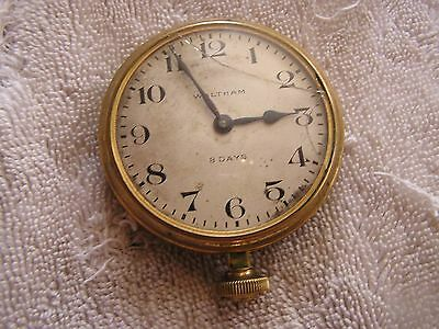 Antique Vintage Waltham 8 Day Classic  Car Clock