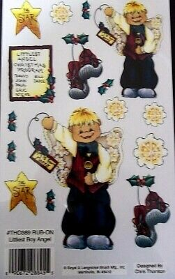 Royal & Langnickel Christmas Rub-ons - *LITTLEST BOY ANGEL - SCrapbooking/Cards