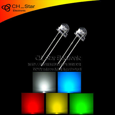 5colors 100pcs 5mm LED Diodes Straw hat Red/Green/Blue/Yellow/White Mix Kits
