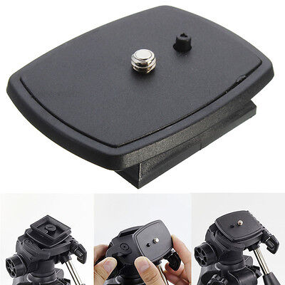 Tripod Quick Release Plate 1/4'' Screw Adapter Head For DSLR SLR digital Camera