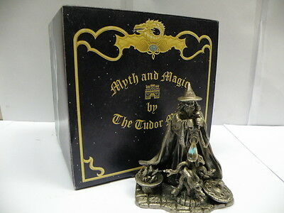 Tudor Mint Myth and Magic Statue * SUMMONING THE SERPENTS * Metal Figure 3918 Bo