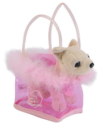 Chi Chi LOVE Fancy Feathers - Chihuahua Plüschhund in Tasche