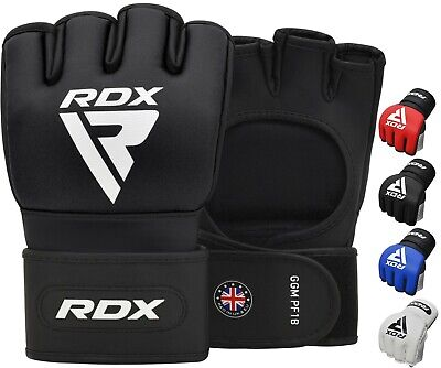 RDX Weight lifting Gym Gloves Leather Fitness Exercise Body Building Workout AU