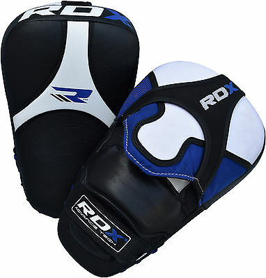 RDX Leather Focus Pads Hook and Jab Boxing Kick Curved Bag Mitts MMA Training AU