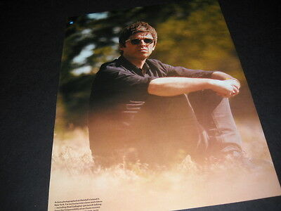OASIS Noel Gallagher sitting outside 2015 PROMO PHOTO IMAGE DISPLAY PAGE mint