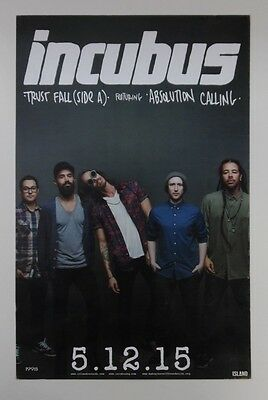 """Incubus - Trust Fall (Side A) Promo Poster 11"""" x 17"""" Rare Limited Edition"""