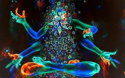 """Psychedelic Trippy Art Fabric poster 40"""" x 24"""" Decor 57"""