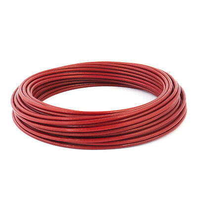[red] galvanised steel PVC coated WIRE ROPE steel line plastic covered cable
