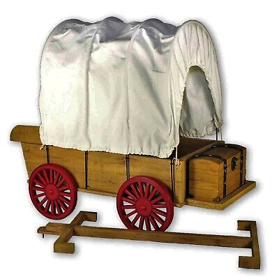 """Little House Covered Wagon,Sleigh & Trunk Fits Two 18 """" inch American Girl Dolls"""