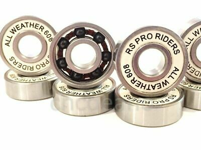 ALL WEATHER CERAMIC Si3N4 & S/S  BEARING ABEC 9 627 ROLLER SKATE HOCKEY DERBY 11